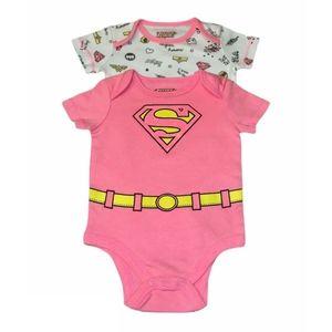 Baby girl supergirl onesies